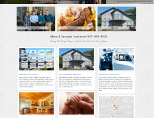 New responsive insurance website for Lincoln City
